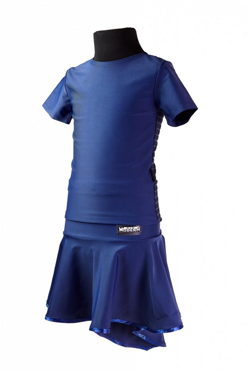 Футболка и юбка (сетка в полоску)