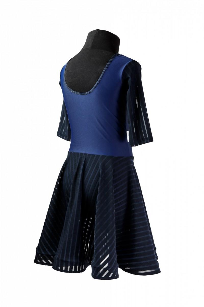Платье тренировочное (сетка в полоску)